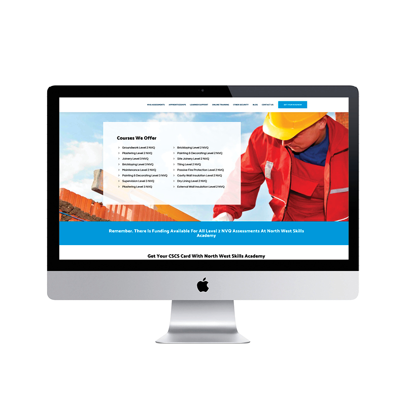 North West Skills Academy LTD website design